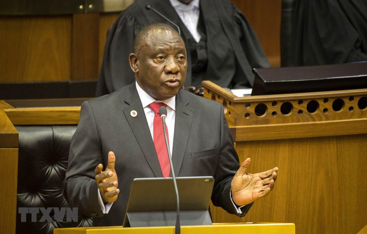 Tổng thống Nam Phi Cyril Ramaphosa. (Ảnh: AFP/TTXVN)