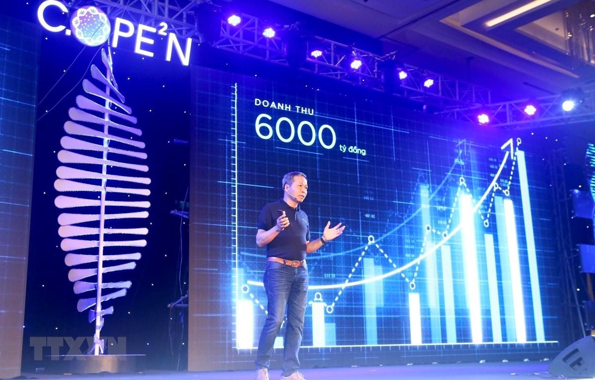 Tập đoàn Công nghệ CMC tổ chức Lễ ra mắt Hệ sinh thái hạ tầng mở C.OPE2N (CMC Open Ecosystem for Enterprise) cho doanh nghiệp và tổ chức mgày 9/4/2019. CMC là một trong ba đại diện Việt Nam được nhận giải thưởng ASOCIO 2019. (Ảnh: Minh Quyết/TTXVN)