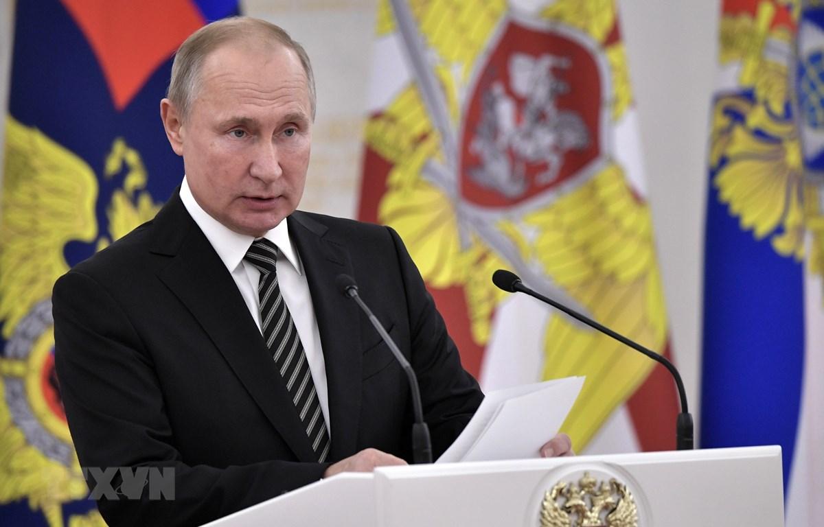 Tổng thống Nga Vladimir Putin sẽ tham dự Hội nghị thượng đỉnh Bộ Tứ Normandy vào 9/12 tới. (Ảnh: AFP/TTXVN)