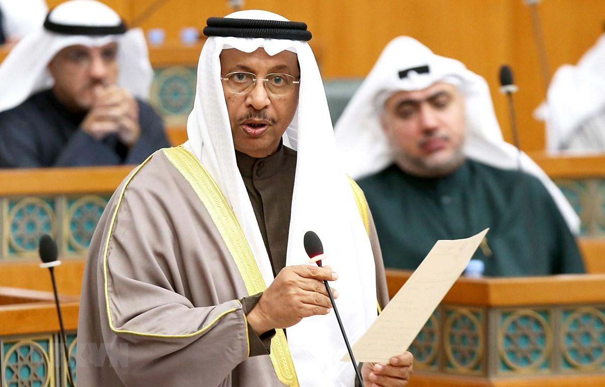 Cựu hủ tướng Kuwait Sheikh Jaber Al-Mubarak al-Hamad Al-Sabah tại phiên họp Quốc hội ở Kuwait City. (Ảnh: AFP/TTXVN)