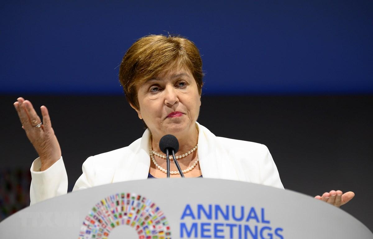 Tổng Giám đốc IMF - bà Kristalina Georgieva. (Ảnh: AFP/TTXVN)