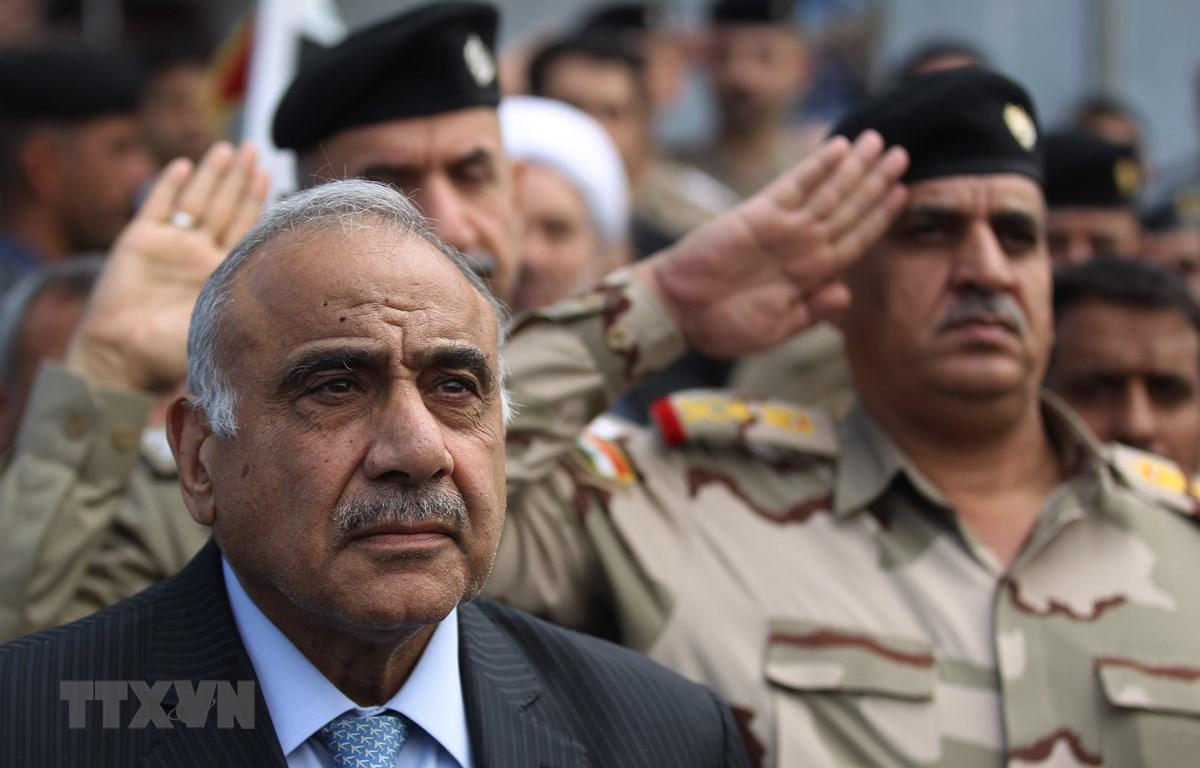 Thủ tướng Iraq Adel Abdul Mahdi tham dự một sự kiện ở Baghdad, Iraq, ngày 23/10/2019. (Ảnh: AFP/TTXVN)