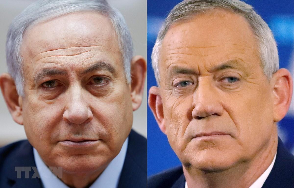 Thủ tướng Israel Benjamin Netanyahu (trái) và lãnh đạo đảng Xanh-Trắng Benny Gantz. (Ảnh: AFP/TTXVN)