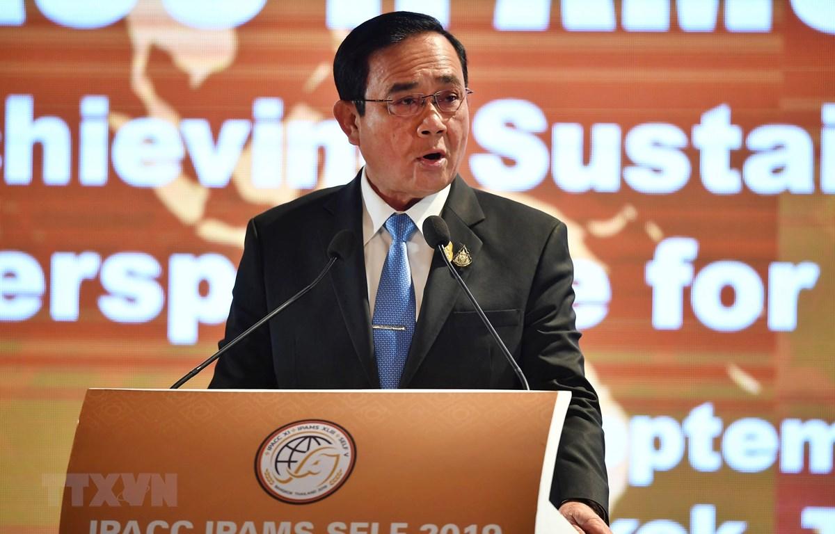 Thủ tướng Thái Lan Prayut Chan-o-cha phát biểu tại một sự kiện ở Bangkok ngày 9/9/2019. (Ảnh: AFP/TTXVN)
