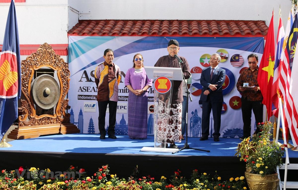 Đại sứ Indonesia, Cheppy Tri Prakoso Wartono phát biểu khai mạc sự kiện. (Ảnh: Việt Hùng/Vietnam+)