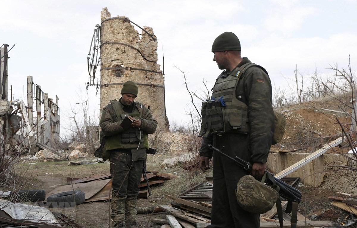 Binh sỹ Ukraine tại khu vực Donetsk ở miền đông Ukraine ngày 30/3/2019. (Ảnh: AFP/TTXVN)