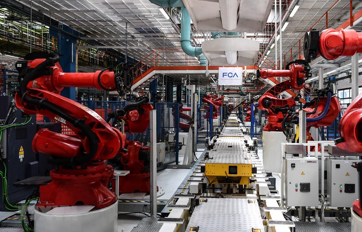 Nhà máy sản xuất ôtô của hãng Fiat tại Turin, Italy, ngày 11/7/2019. (Ảnh: AFP/TTXVN)