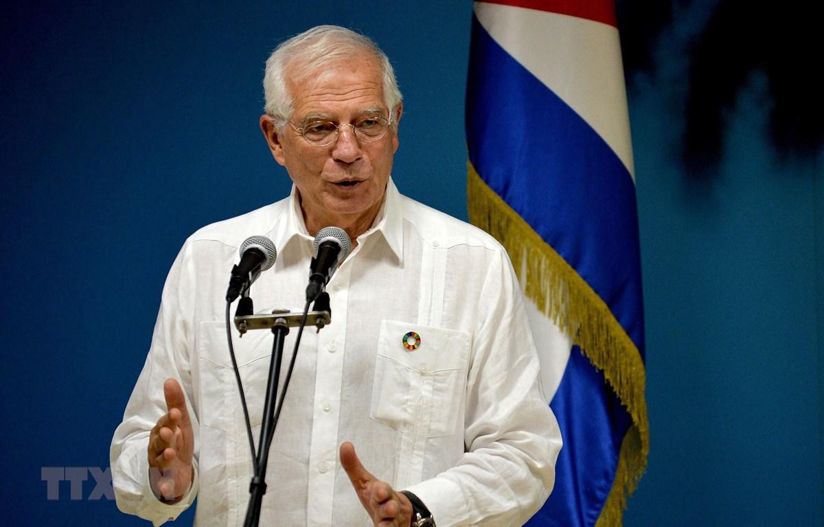 Ngoại trưởng Tây Ban Nha Josep Borrell, Đại diện Cấp cao phụ trách chính sách an ninh và đối ngoại của Liên minh châu Âu. (Ảnh: AFP/TTXVN)