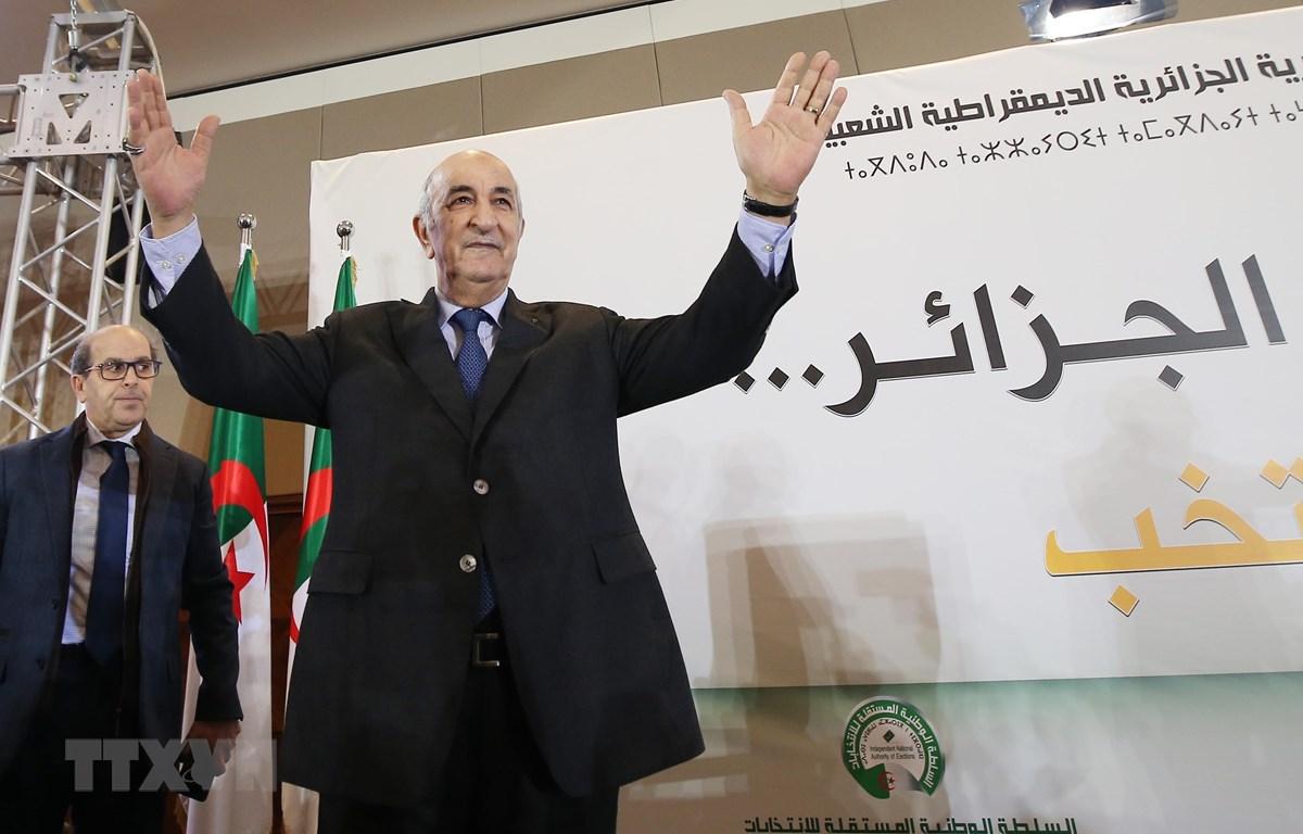 Tân Tổng thống Algeria Abdelmadjid Tebboune trong cuộc họp báo tại Algiers ngày 13/12/2019. (Ảnh: THX/TTXVN)