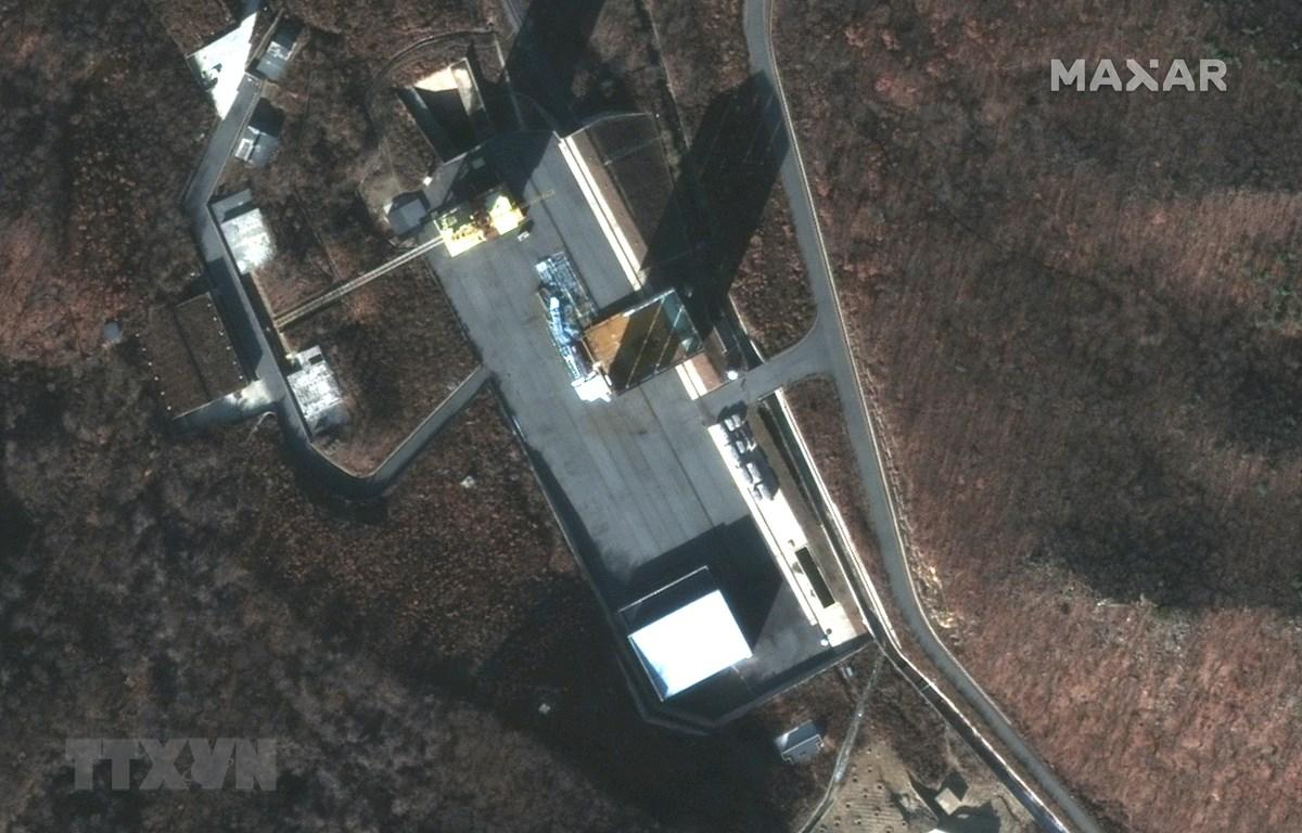 Hình ảnh vệ tinh bãi thử Sohae. (Ảnh: AFP/TTXVN)