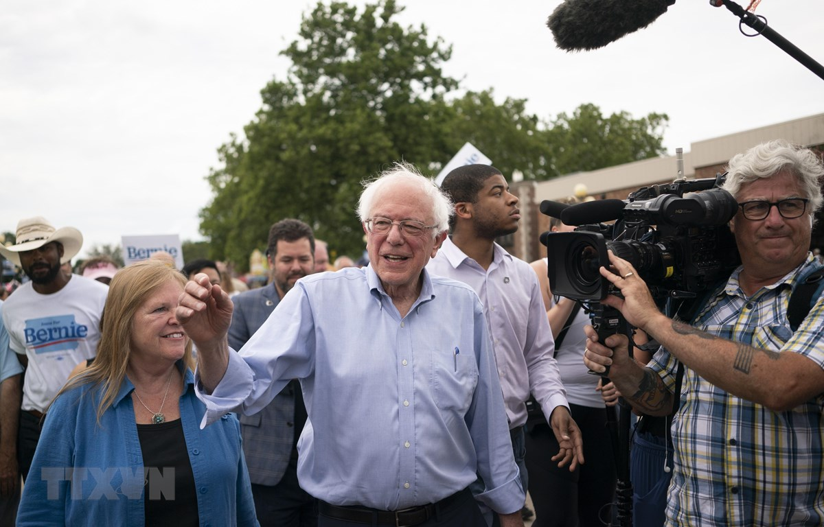 Thượng nghị sĩ độc lập của bang Vermont Bernie Sanders tại Des Moines, Iowa, Mỹ, ngày 11/8/2019. (Ảnh: AFP/TTXVN)
