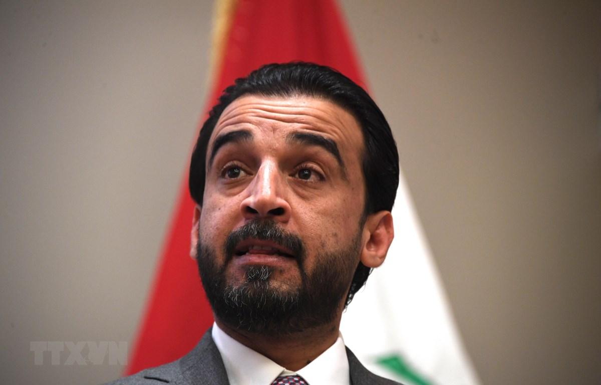 Chủ tịch Quốc hội Iraq Mohammed Al-Halbousi. (Ảnh: AFP/TTXVN)