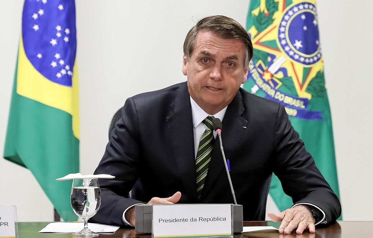Tổng thống Brazil Jair Bolsonaro. (Ảnh: AFP/ TTXVN)