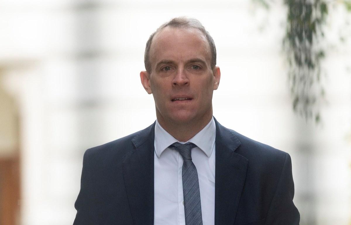 Ngoại trưởng Anh Dominic Raab. (Ảnh: THX/ TTXVN)