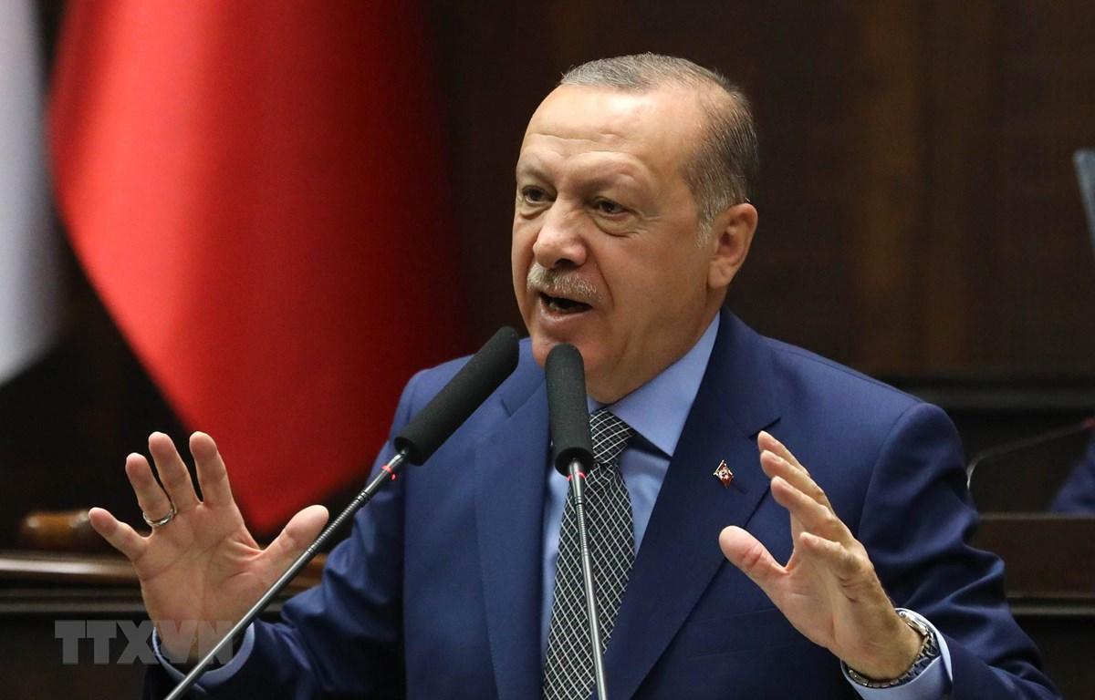 Tổng thống Thổ Nhĩ Kỳ Recep Tayyip Erdogan. (Ảnh: AFP/TTXVN)