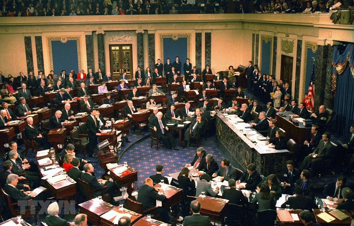 Toàn cảnh phiên họp Thượng viện Mỹ ở Washington, DC. (Ảnh: AFP/TTXVN)