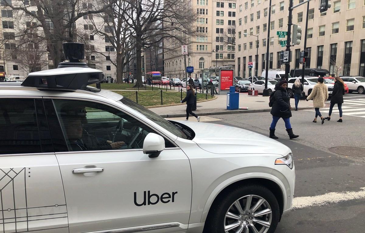 Xe của Uber trên các đường phố ở Washington, DC, Mỹ, ngày 24/1/2020. Ảnh minh họa. (Nguồn: AFP/TTXVN)