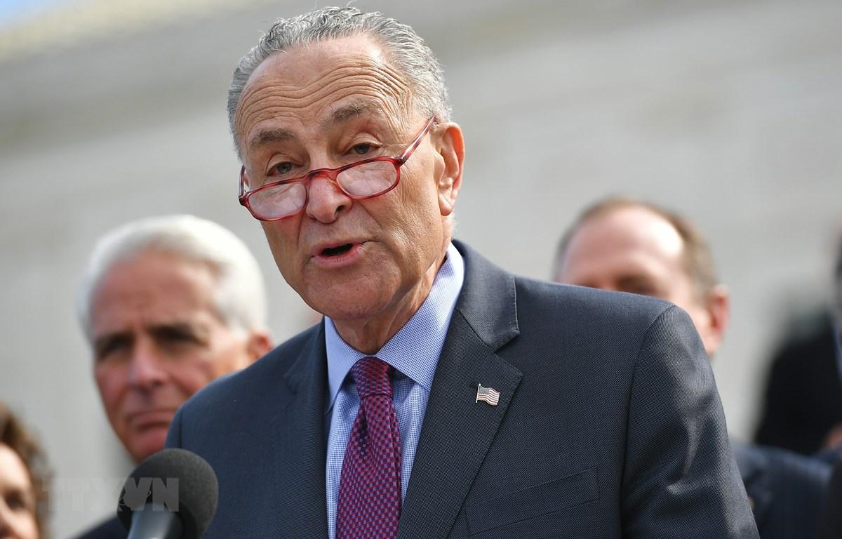 Lãnh đạo đảng Dân chủ tại Thượng viện Mỹ Charles Schumer. (Ảnh: AFP/TTXVN)