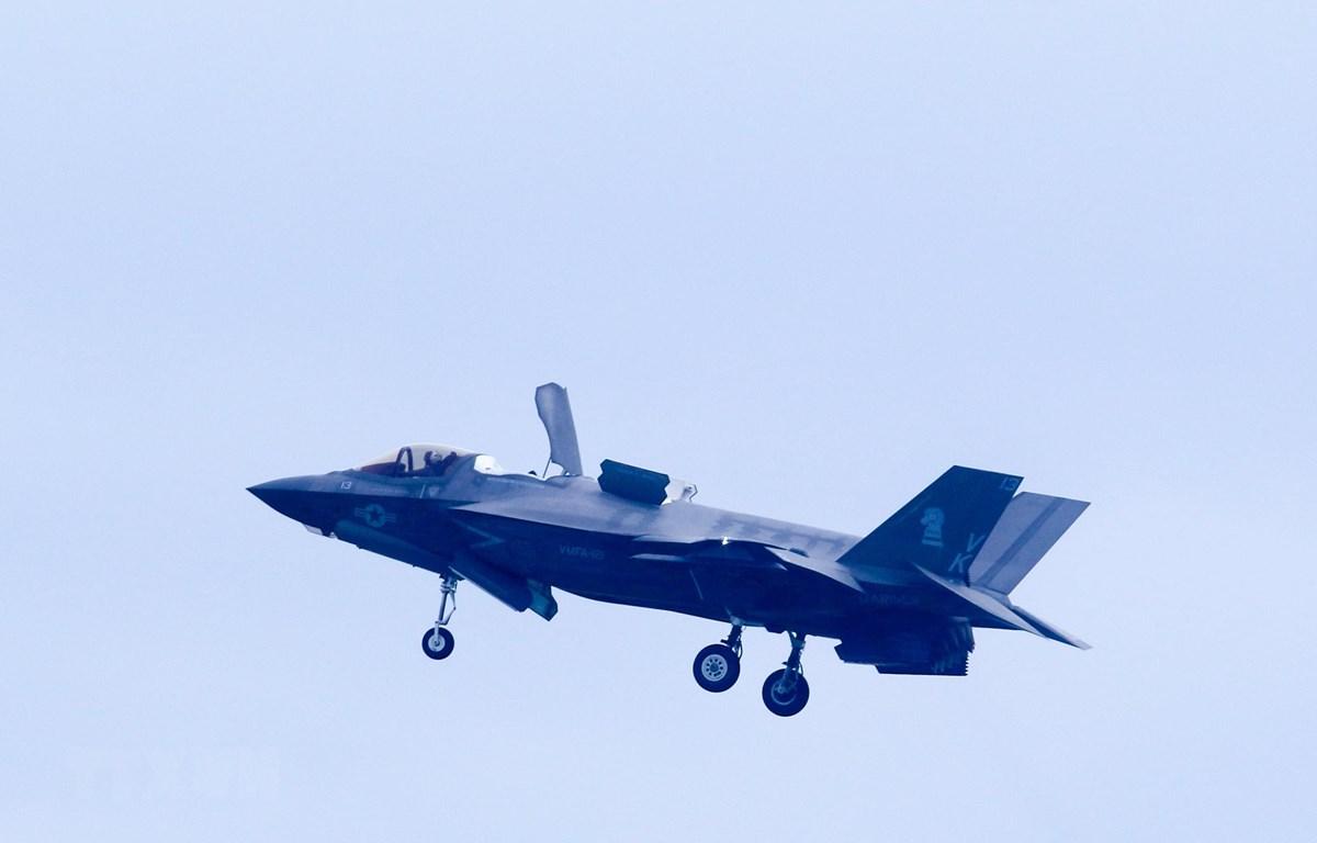 Máy bay tiêm kích tân tiến F35-B của Mỹ tại buổi tổng duyệt ngày 9/2/2020. (Ảnh: Ảnh: Lê Dương/TTXVN)