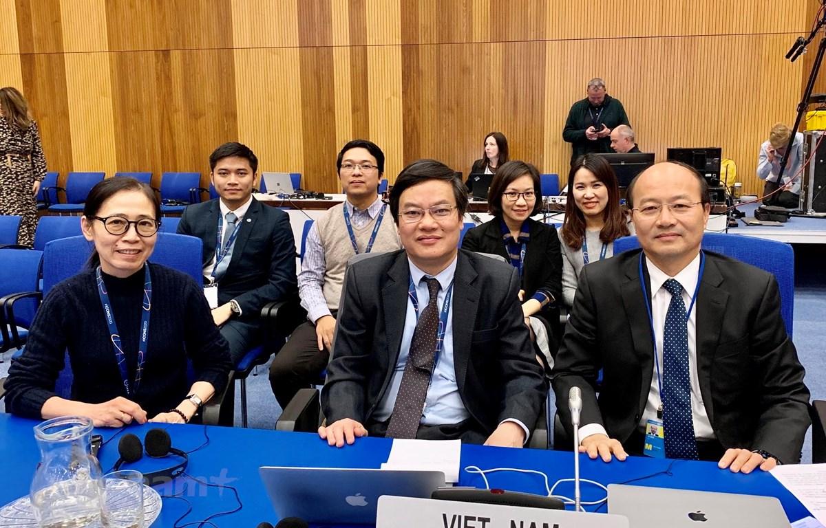 Đoàn Việt Nam tham dự Hội nghị quốc tế về an ninh hạt nhân - ICONS 2020 tại Vienna, Áo. (Ảnh: PV/Vietnam+)
