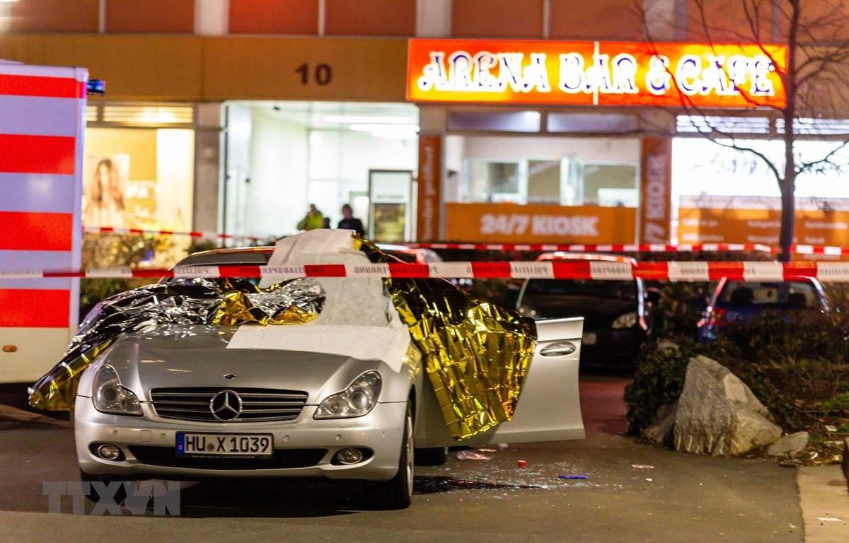 Hiện trường vụ xả súng tại Hanau, Đức, ngày 20/2/2020. (Ảnh: THX/ TTXVN)