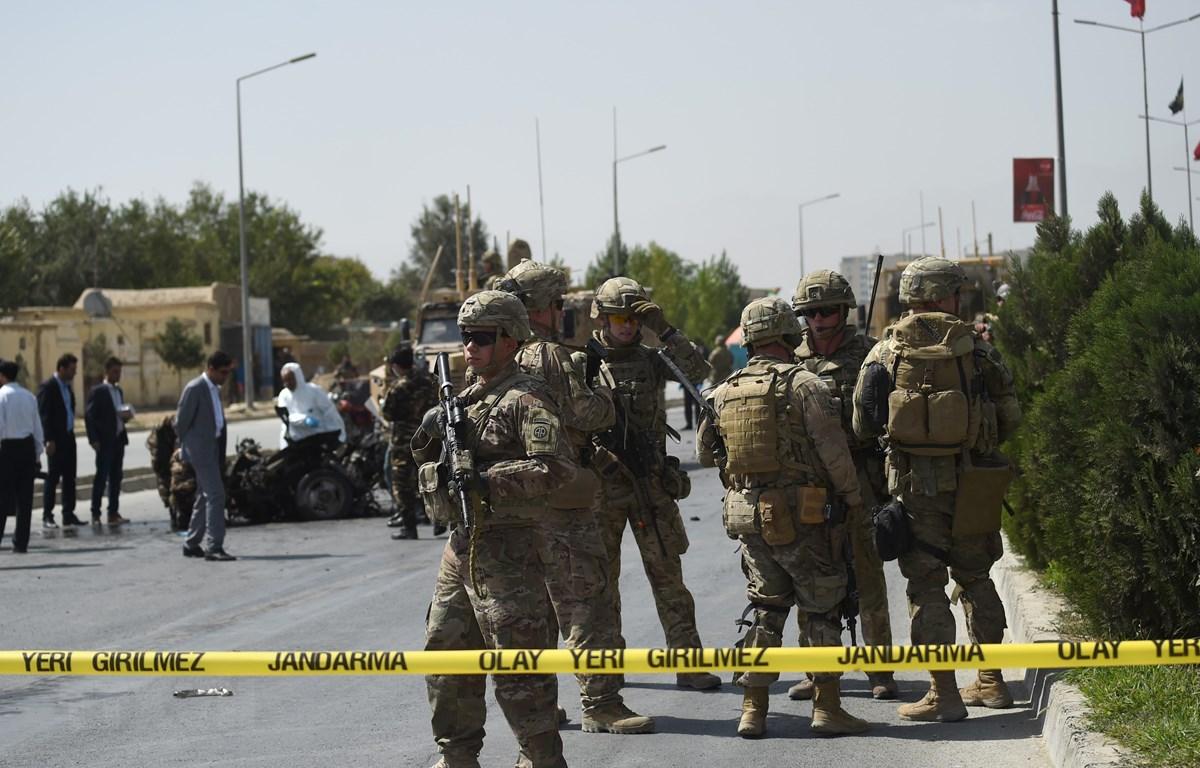 Binh sĩ Mỹ tại Kabul, Afghanistan. (Ảnh: AFP/TTXVN)