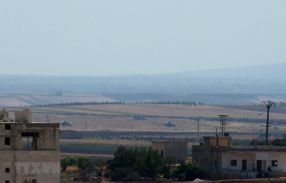 Một sân bay quân sự ở làng Taftanaz, phía Tây Bắc tỉnh Idlib, Syria. (Ảnh: AFP/TTXVN)