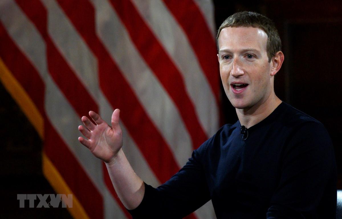CEO Facebook Mark Zuckerberg. (Ảnh: AFP/TTXVN)