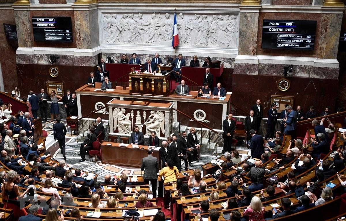 Một phiên họp Quốc hội Pháp ở Paris. (Ảnh: AFP/TTXVN)