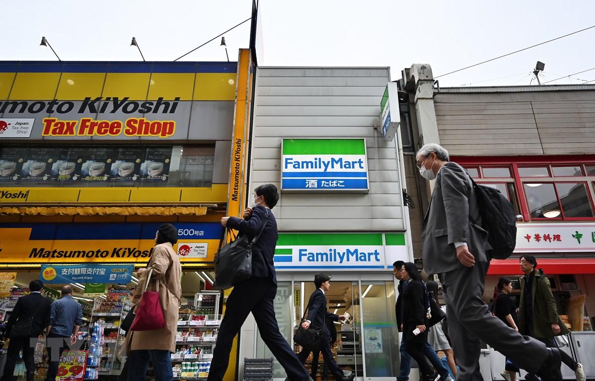 Trên một đường phố ở Tokyo, Nhật Bản, ngày 17/4/2019. (Ảnh: AFP/ TTXVN)