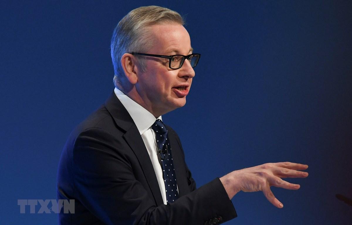 Bộ trưởng phụ trách điều phối kế hoạch Brexit không thỏa thuận Michael Gove phát biểu tại hội nghị thường niên của đảng Bảo thủ ở Manchester, Anh, ngày 29/9/2019. (Ảnh: AFP/TTXVN)