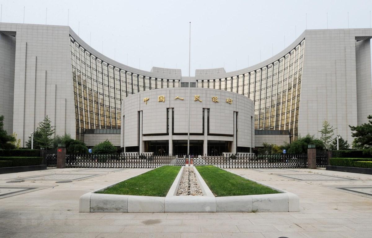 Trụ sở Ngân hàng Nhân dân Trung Quốc tại Bắc Kinh. (Ảnh: AFP/TTXVN)