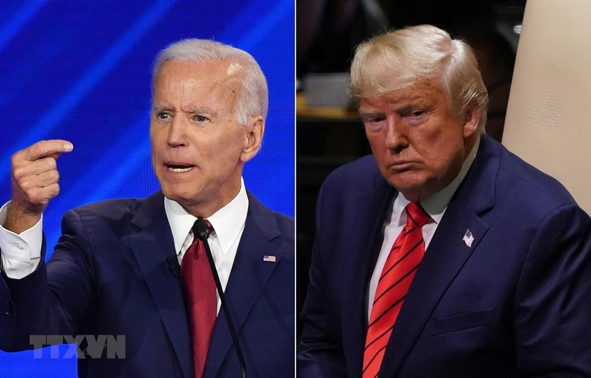Tổng thống Mỹ Donald Trump (phải) và cựu Phó Tổng thống Joe Biden, ứng viên tiềm năng trong cuộc đua vị trí ứng viên tranh cử Tổng thống của đảng Dân chủ. (Ảnh: AFP/TTXVN)
