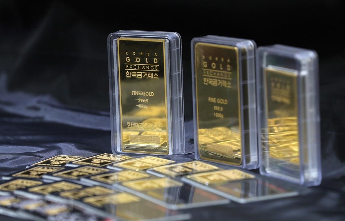 Vàng được bày bán tại Seoul, Hàn Quốc, ngày 28/1/2020. (Ảnh: Yonhap/TTXVN)