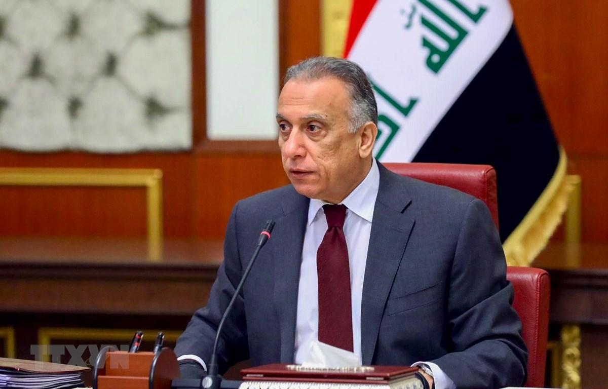 Tân Thủ tướng Iraq Mustafa al-Kadhimi tại cuộc họp nội các ở Baghdad, Iraq, ngày 9/5/2020. (Ảnh: AFP/TTXVN)