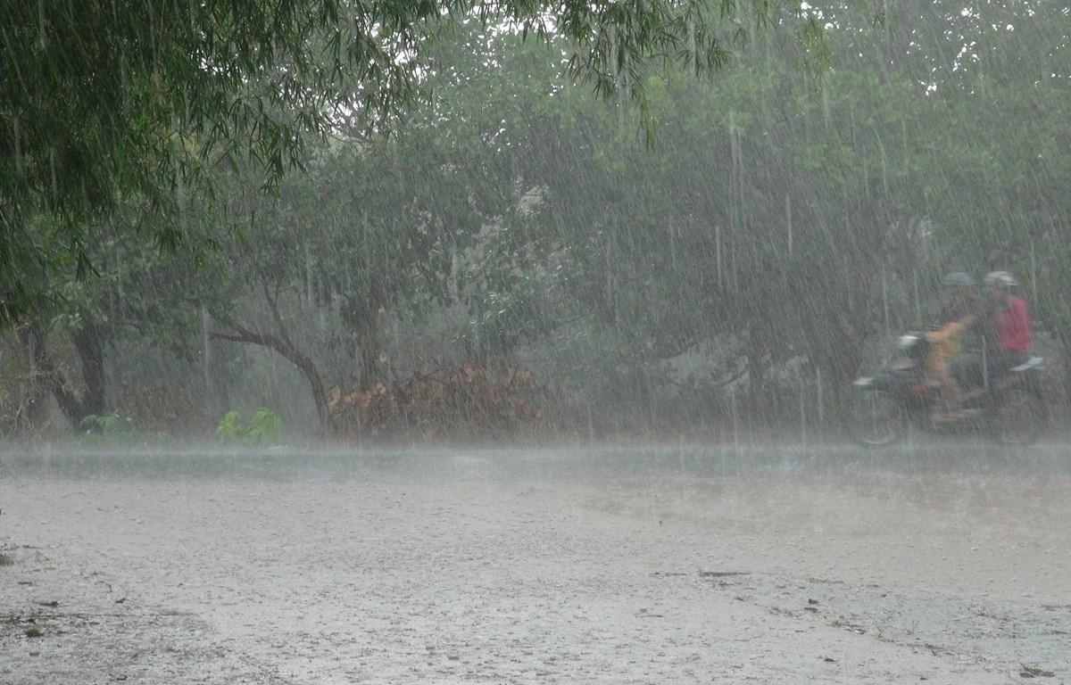 Các tỉnh Bắc Bộ có mưa dông diện rộng. Ảnh minh họa. (Nguồn: TTXVN)