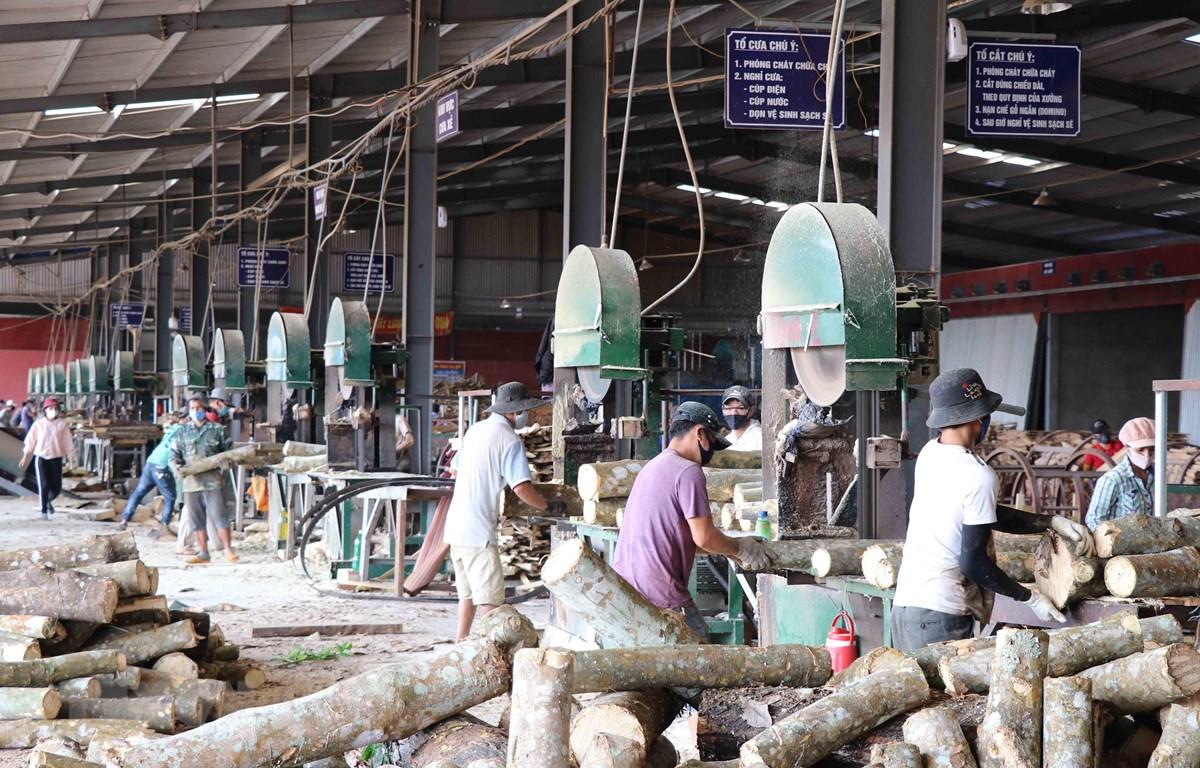 Hoạt động sản xuất tại Khu Công nghiệp Trà Đa, Gia Lai. (Ảnh: Hoài Nam/TTXVN)