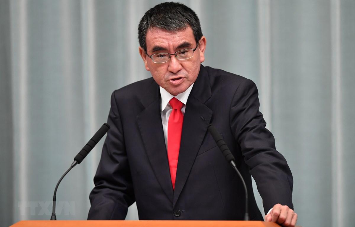 Bộ trưởng Quốc phòng Nhật Bản Taro Kono. (Ảnh: AFP/TTXVN)