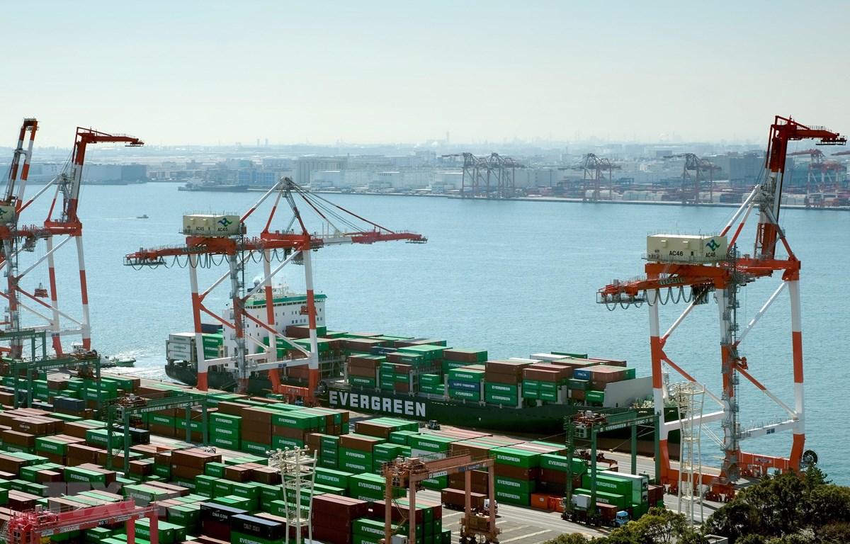 Cảng container quốc tế ở Tokyo, Nhật Bản ngày 18/3/2020. (Ảnh: AFP/TTXVN)
