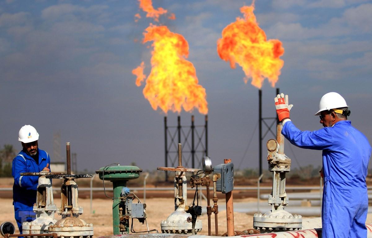 Cơ sở khai thác khí đốt tự nhiên Bin Omar của Công ty dầu khí Basra ở cảng miền Nam Iraq. (Ảnh: AFP/TTXVN)
