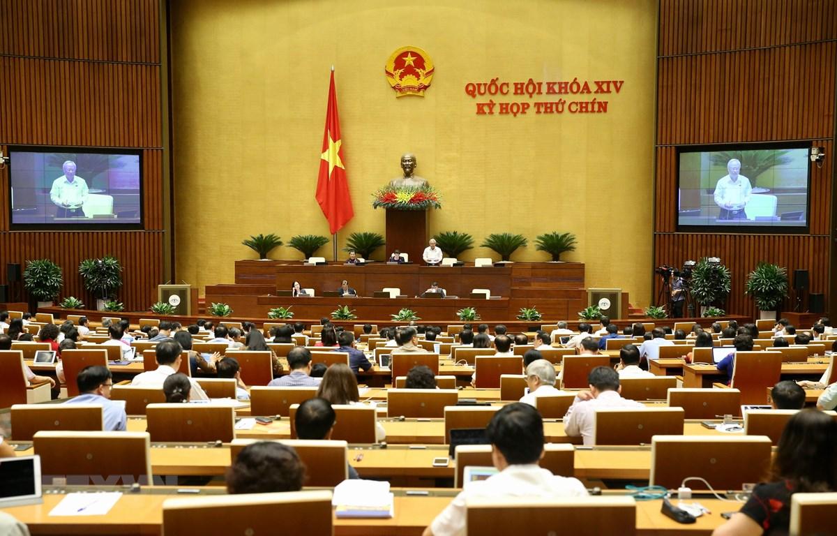 Trong ảnh: Quang cảnh phiên họp chiều 10/6. (Ảnh: Dương Giang/TTXVN)