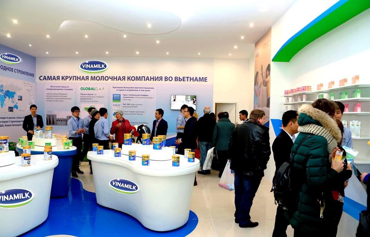 Từ năm 2015, Vinamilk đã tiến hành các hoạt động giới thiệu sản phẩm, xúc tiến thương mại tại Nga. (Ảnh: CTV/Vietnam+)