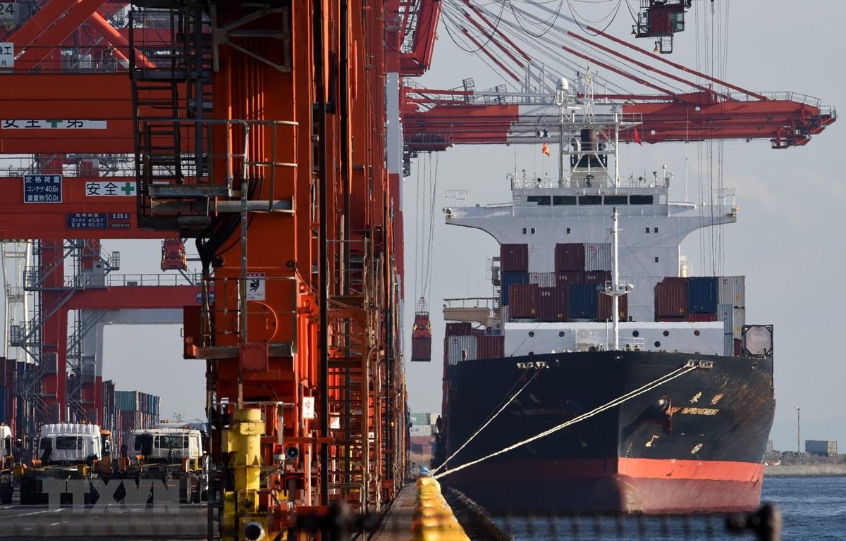 Cảng container ở Tokyo, Nhật Bản. (Ảnh: AFP/TTXVN)