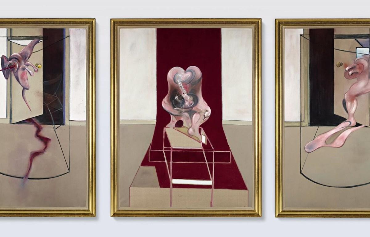 Bộ 3 tác phẩm của danh họa Francis Bacon được bán với giá 84,6 triệu USD. (Nguồn: Sotheby's)