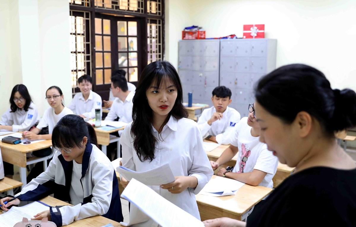 Thời điểm này, học sinh lớp 12 đang tập trung ôn tập để bước vào Kỳ thi tốt nghiệp Trung học phổ thông năm 2020 sẽ diễn ra vào tháng 8 tới. (Ảnh: Thanh Tùng/TTXVN)