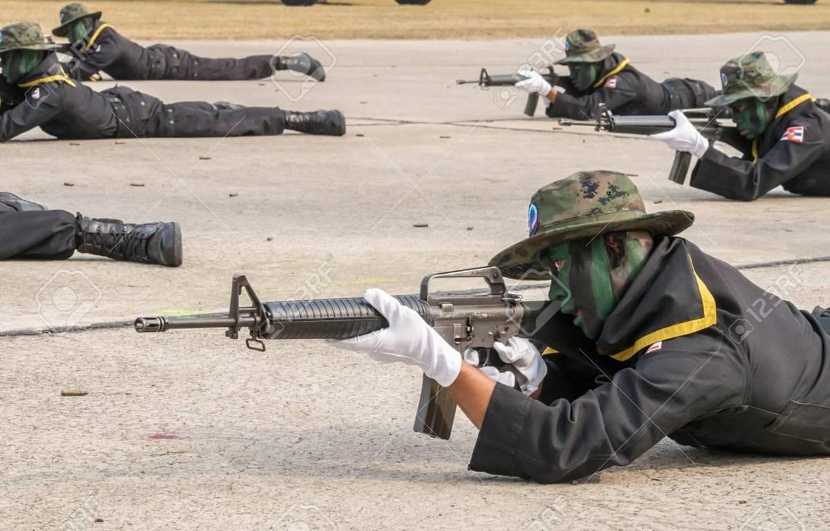 Binh sỹ hải quân Thái Lan trong một cuộc tập trận. (Nguồn: 123rf.com)