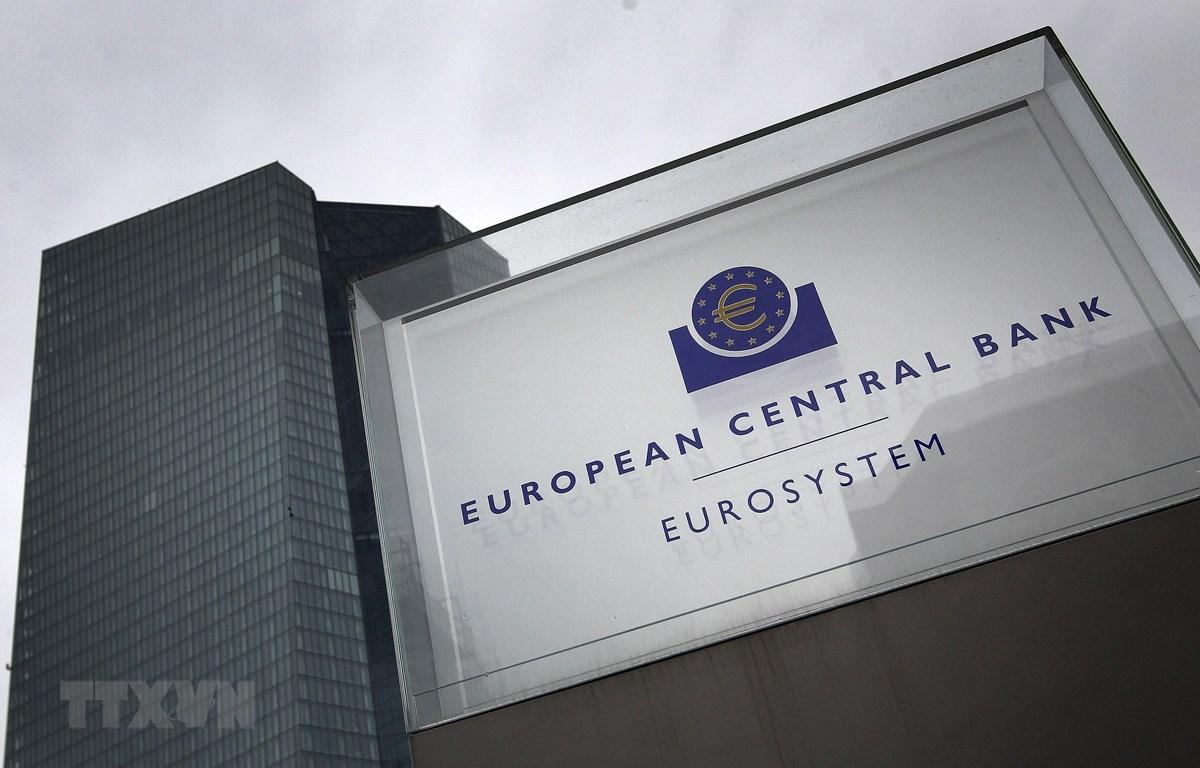 Trụ sở Ngân hàng Trung ương châu Âu (ECB) tại Frankfurt am Main, miền tây nước Đức, ngày 12/3/2020. (Ảnh: AFP/TTXVN)