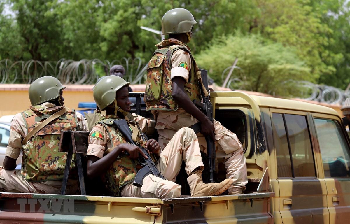 Binh sỹ Mali tuần tra tại Gao sau các vụ đánh bom liều chết. (Ảnh: AFP/TTXVN)