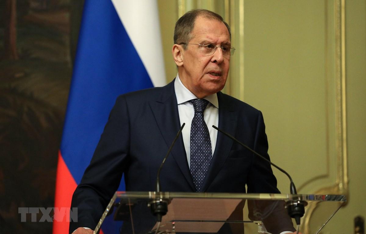 Ngoại trưởng Nga Sergei Lavrov. (Ảnh: THX/TTXVN)