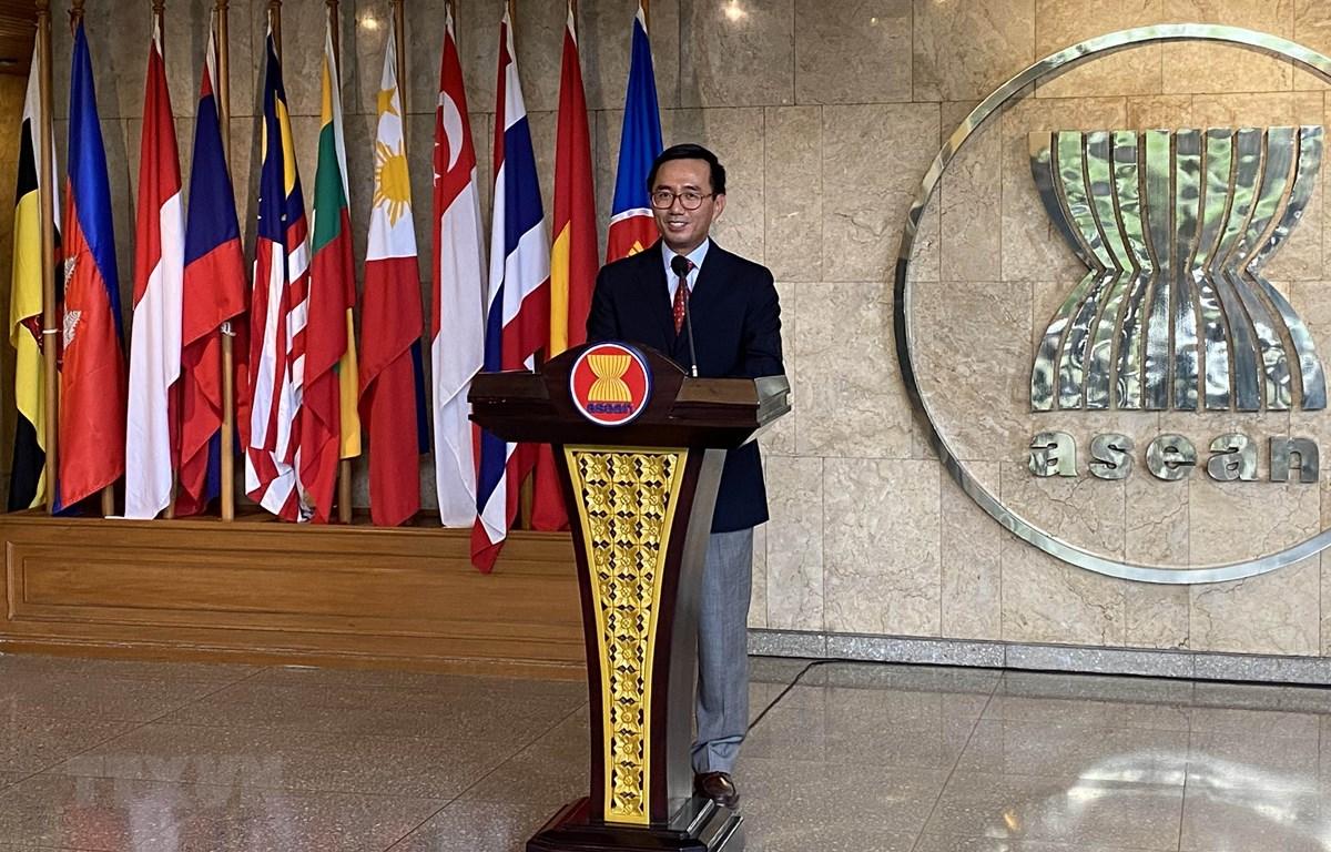 Đại sứ Trần Đức Bình, Trưởng phái đoàn Việt Nam tại ASEAN. (Ảnh: Hữu Chiến/TTXVN)